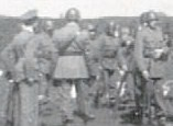 Swedish soldiers at ease prior to the religious ceremony