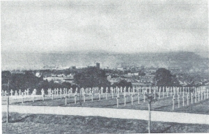 The temporary American Cemetery at Lisnabreeny, Northern Ireland