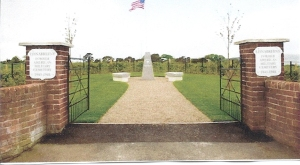 The entrance to the site of the former American cemetery at Lisnabreeny